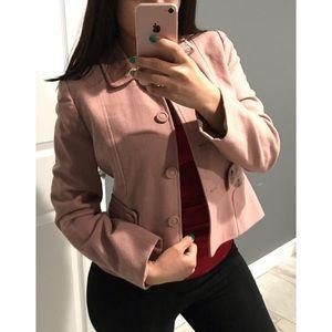 LOFT Pink wool velvet blazer jacket 6P